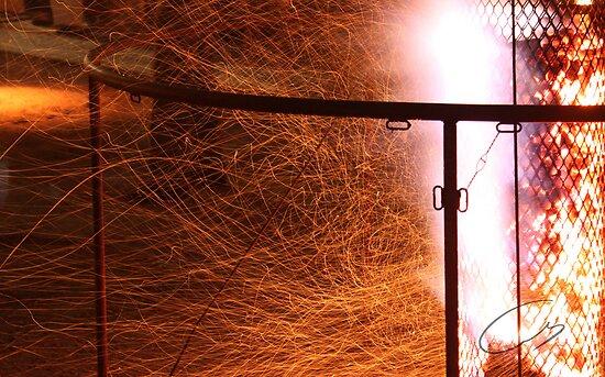 Fire in the dark by eisencsm