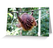 Hangin' Out With Mum Greeting Card
