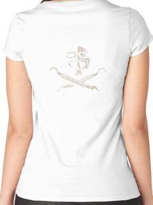 Vintage Race Skull Women's Fitted Scoop T-Shirt