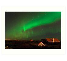 Aurora over Straumsvík Art Print
