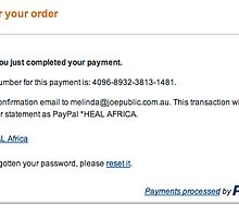 Receipt, please read description :) by Melinda Kerr