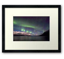 Aurora Borealis & clouds I Framed Print