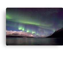 Aurora Borealis & clouds I Canvas Print