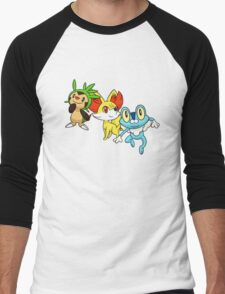 pokemon starter 6 Men's Baseball ¾ T-Shirt