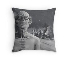 NoHo Noir: Walking After Midnight Throw Pillow