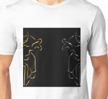 Motor bikers in gold and silver Unisex T-Shirt