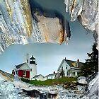 Rocks And Reflections Of Pemaquid by Carolyn  Fletcher