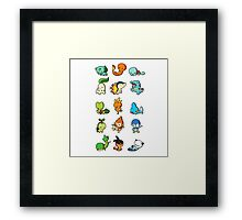 pokemon cute Framed Print