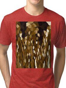 Brown Chocolate Tears Falling Softly Tri-blend T-Shirt