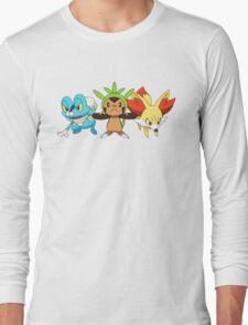 pokemon starter 7 Long Sleeve T-Shirt