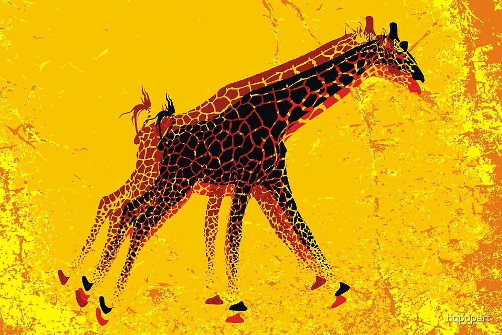 Running Giraffe  by hqpopart