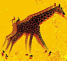 Running Giraffe  by hqpopart