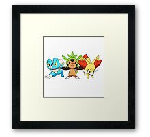 pokemon starter 7 Framed Print