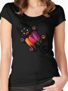 KITTEN 7/10 Women's Fitted Scoop T-Shirt