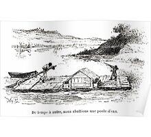 Achille Sirouy Mark Twain Les Aventures de Huck Huckleberry Finn illustration p085 Poster