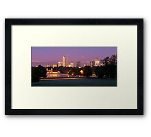 Denver Fall Morning Framed Print