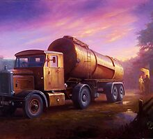 Truckstop 1954 by Mike Jeffries