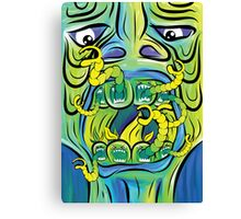 Hungry Apples psychedelic poster Canvas Print