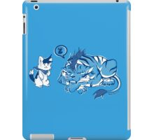the cat and the tiger iPad Case/Skin