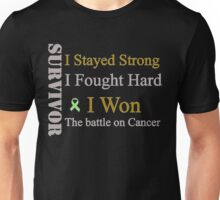 Survivor I won! Lymphoma cancer (Green ribbon)  Unisex T-Shirt