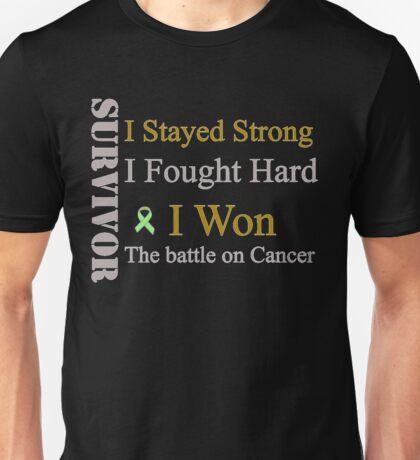 Survivor I won! Lymphoma cancer (Green ribbon)  Unisex T-Shirt