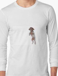 Brown Roan Italian Spinone Dog in Action T-Shirt