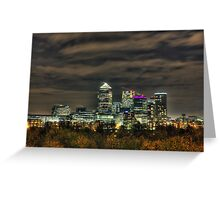 The City Night Skyline Greeting Card