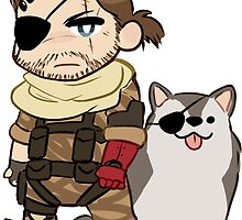 mgs sticker - venom snake and DD by Ohrwurm