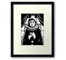 Sad Pierrot Framed Print