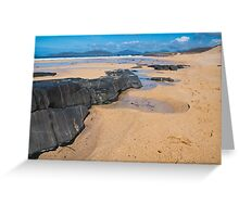 Landscape, Traigh Mhor beach, Finger of rock Greeting Card