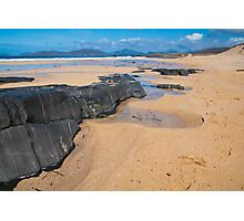 Landscape, Traigh Mhor beach, Finger of rock Photographic Print
