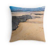 Landscape, Traigh Mhor beach, Finger of rock Throw Pillow