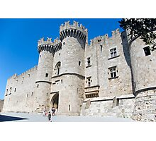 Knights castle at Rhodos Island, Greece Photographic Print