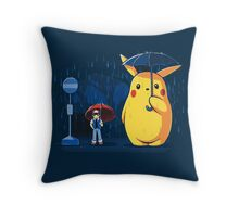 pokemon totoro scene Throw Pillow