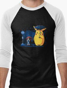 pokemon totoro scene Men's Baseball ¾ T-Shirt