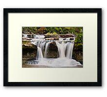 Upper Catarct Falls Pours trhough Boulders Framed Print