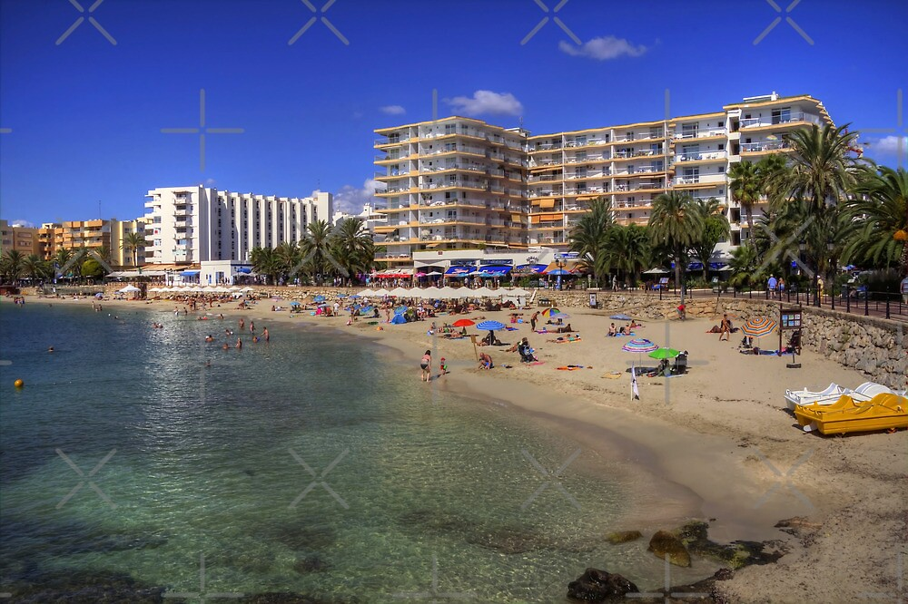 Santa Eulalia Beach and Promenade by Tom Gomez
