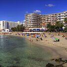 Santa Eulalia Beach and Promenade by Tom Gomez