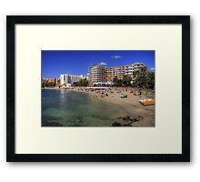 Santa Eulalia Beach and Promenade Framed Print