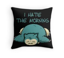 snorlax hate the morning Throw Pillow