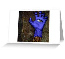 Blue Hand Greeting Card