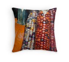 Indian Corn and Pumpkin Throw Pillow