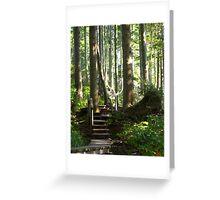 Hiking among Giants Greeting Card