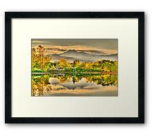 Golden Moments, Gilded Dreams Framed Print