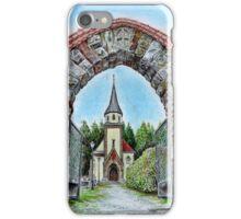 Chapel of St Anne in Mostek iPhone Case/Skin