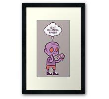 Gluten-free Zombie Framed Print