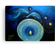 Humming in the Vortex Canvas Print