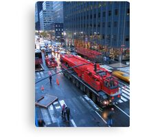 Big Red Truck Canvas Print