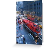 Big Red Truck Greeting Card
