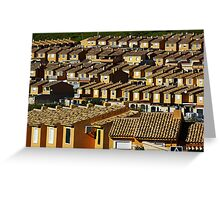 Suburbian houses in rows Greeting Card